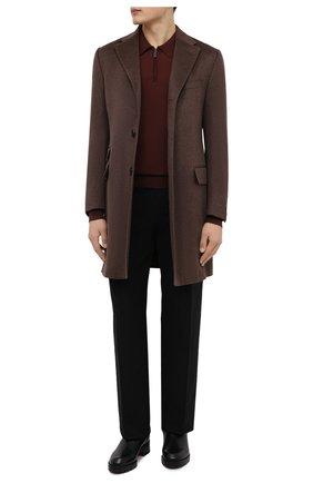Мужское шерстяное поло BRIONI коричневого цвета, арт. UMS10L/0ZK18 | Фото 2