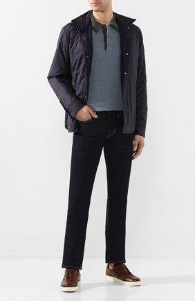 Мужское поло из смеси шерсти и шелка BRIONI серого цвета, арт. UMR30L/P9K30 | Фото 2