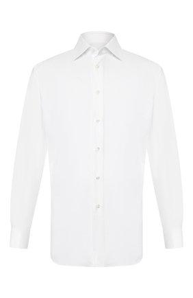 Мужская хлопковая сорочка BRIONI белого цвета, арт. RCLU1U/P907A   Фото 1