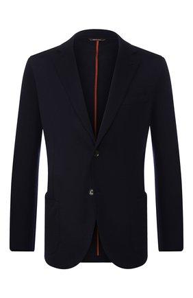 Мужской кашемировый пиджак LORO PIANA темно-синего цвета, арт. FAL0732 | Фото 1