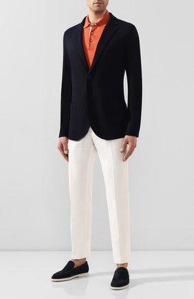 Мужской кашемировый пиджак LORO PIANA темно-синего цвета, арт. FAL0732 | Фото 2