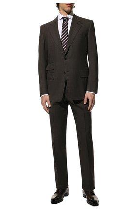 Мужской костюм из смеси шерсти и шелка TOM FORD коричневого цвета, арт. 716R25/21AA43 | Фото 1