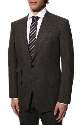 Мужской костюм из смеси шерсти и шелка TOM FORD коричневого цвета, арт. 716R25/21AA43 | Фото 2