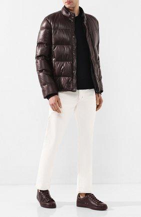Мужские кожаные кеды GIANVITO ROSSI бордового цвета, арт. S26340.M1R0Y.B0XR0YA | Фото 2