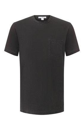 Мужская хлопковая футболка JAMES PERSE серого цвета, арт. MSX3282 | Фото 1