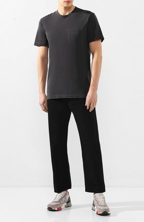 Мужская хлопковая футболка JAMES PERSE серого цвета, арт. MSX3282 | Фото 2