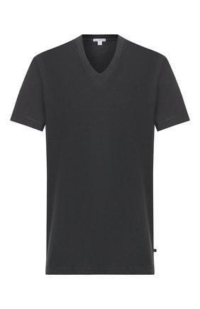 Мужская хлопковая футболка JAMES PERSE темно-серого цвета, арт. MLJ3352 | Фото 1