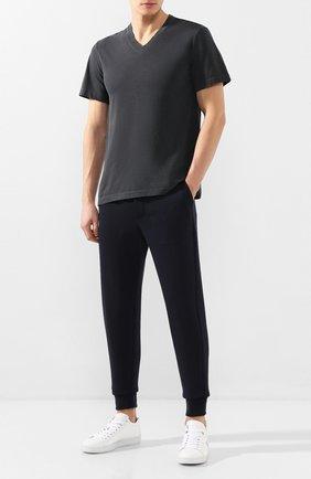 Мужская хлопковая футболка JAMES PERSE темно-серого цвета, арт. MLJ3352 | Фото 2