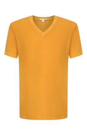Мужская хлопковая футболка JAMES PERSE желтого цвета, арт. MLJ3352 | Фото 1