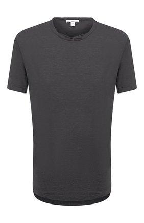 Мужская хлопковая футболка JAMES PERSE темно-серого цвета, арт. MKJ3360 | Фото 1