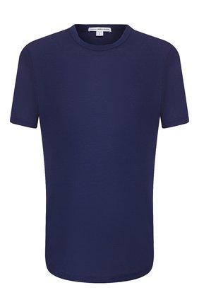 Мужская хлопковая футболка JAMES PERSE синего цвета, арт. MKJ3360 | Фото 1