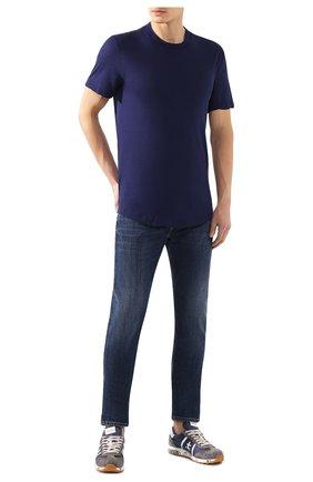 Мужская хлопковая футболка JAMES PERSE синего цвета, арт. MKJ3360 | Фото 2