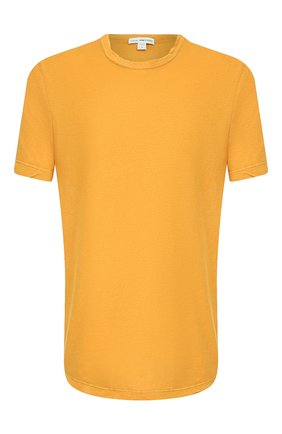 Мужская хлопковая футболка JAMES PERSE желтого цвета, арт. MKJ3360 | Фото 1