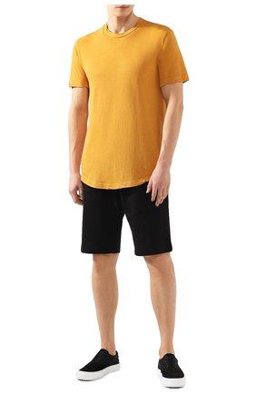 Мужская хлопковая футболка JAMES PERSE желтого цвета, арт. MKJ3360 | Фото 2