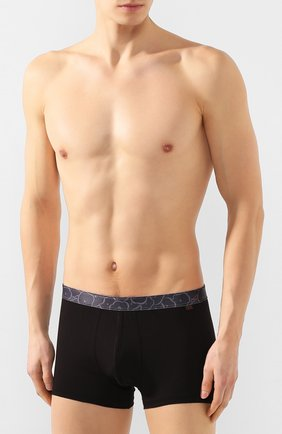 Мужские хлопковые боксеры DEREK ROSE черного цвета, арт. 8635-BAND046 | Фото 2