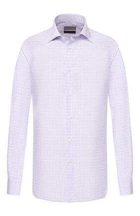 Мужская хлопковая сорочка CANALI сиреневого цвета, арт. XX05/GF00153 | Фото 1