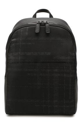Мужской комбинированный рюкзак CANALI черного цвета, арт. P325925/NC00093 | Фото 1