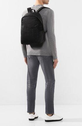 Мужской комбинированный рюкзак CANALI черного цвета, арт. P325925/NC00093 | Фото 2