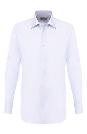 Мужская хлопковая сорочка CANALI голубого цвета, арт. N705/GR01644/S | Фото 1