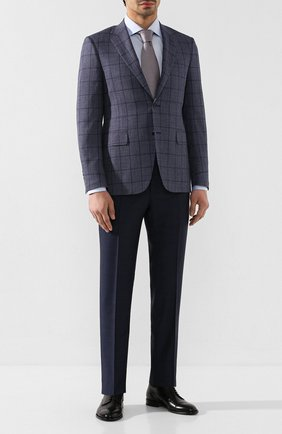 Мужские шерстяные брюки CANALI темно-синего цвета, арт. 71019/AA02524   Фото 2