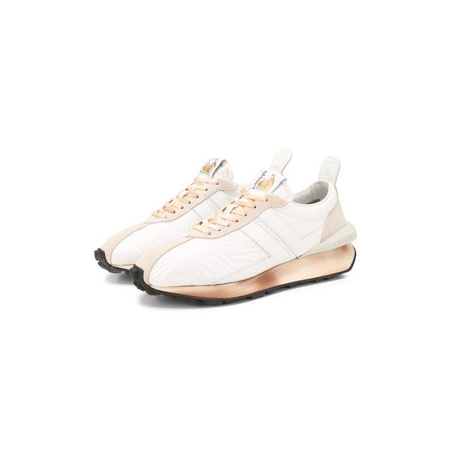 Комбинированные кроссовки Lanvin — Комбинированные кроссовки