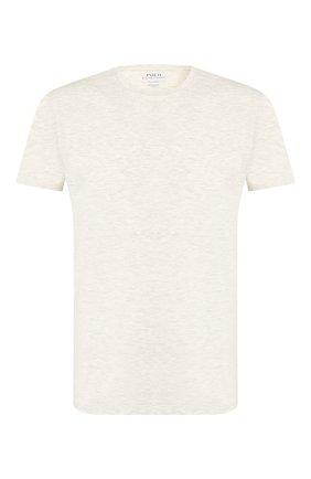Мужские футболка POLO RALPH LAUREN бежевого цвета, арт. 714730623 | Фото 1