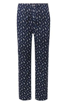 Мужские хлопковые домашние брюки POLO RALPH LAUREN темно-синего цвета, арт. 714730610   Фото 1