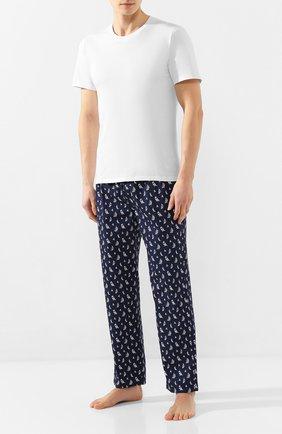 Мужские хлопковые домашние брюки POLO RALPH LAUREN темно-синего цвета, арт. 714730610   Фото 2
