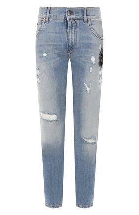 Мужские джинсы DOLCE & GABBANA голубого цвета, арт. GY07LZ/G8BZ2 | Фото 1