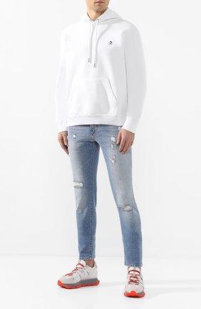 Мужские джинсы DOLCE & GABBANA голубого цвета, арт. GY07LZ/G8BZ2 | Фото 2