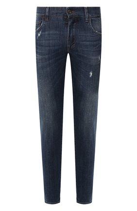 Мужские джинсы DOLCE & GABBANA темно-синего цвета, арт. GY07CD/G8BY6   Фото 1