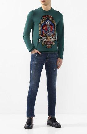 Мужские джинсы DOLCE & GABBANA темно-синего цвета, арт. GY07CD/G8BY6   Фото 2