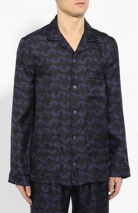 Мужская шелковая пижама ERMENEGILDO ZEGNA синего цвета, арт. N6H000980 | Фото 2