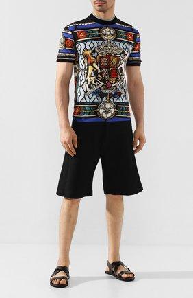 Мужские кожаные сандалии DOUCAL'S черного цвета, арт. DU2418MALIUF073NN00 | Фото 2