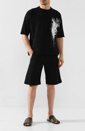 Мужские кожаные шлепанцы MARSELL темно-серого цвета, арт. MM3050/PELLE VITELL0 | Фото 2