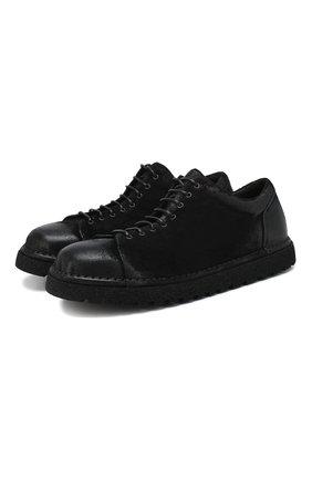 Мужские замшевые ботинки MARSELL черного цвета, арт. MMG350P/PELLE R0VESCI0 | Фото 1
