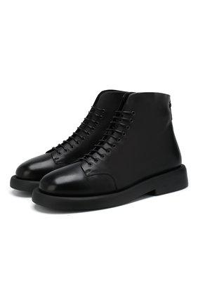 Мужские кожаные ботинки MARSELL черного цвета, арт. MMG470/ABRASIVAT0 | Фото 1