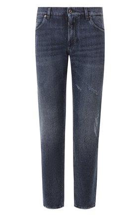 Мужские джинсы DOLCE & GABBANA темно-синего цвета, арт. GYJCCD/G8CB2   Фото 1