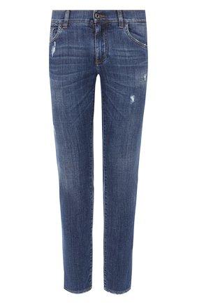 Мужские джинсы DOLCE & GABBANA синего цвета, арт. GY07LD/G8BY6   Фото 1