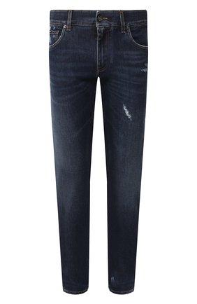 Мужские джинсы DOLCE & GABBANA синего цвета, арт. GY07CD/G8BE1   Фото 1