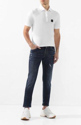 Мужские джинсы DOLCE & GABBANA синего цвета, арт. GY07CD/G8BE1   Фото 2