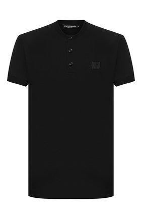 Мужская хлопковая футболка DOLCE & GABBANA черного цвета, арт. G8KB9Z/G7VLC   Фото 1