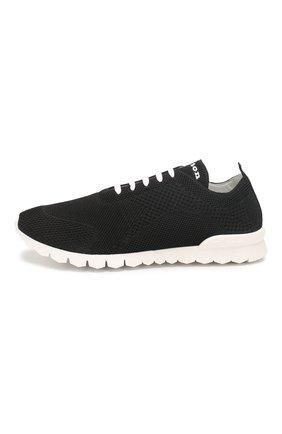 Мужские текстильные кроссовки KITON черного цвета, арт. USSFITSN00609 | Фото 3