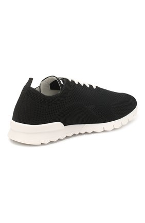 Мужские текстильные кроссовки KITON черного цвета, арт. USSFITSN00609 | Фото 4