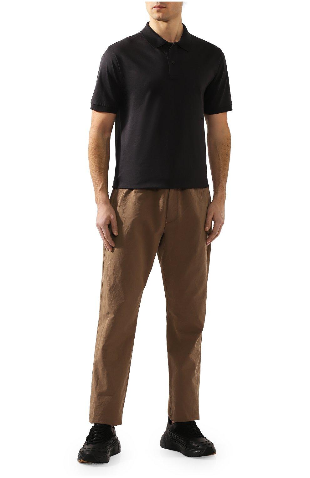 Мужское хлопковое поло BOTTEGA VENETA темно-серого цвета, арт. 599677/VK090   Фото 2