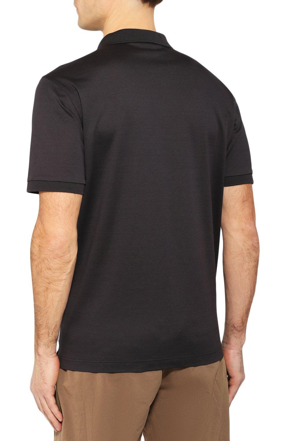 Мужское хлопковое поло BOTTEGA VENETA темно-серого цвета, арт. 599677/VK090   Фото 4