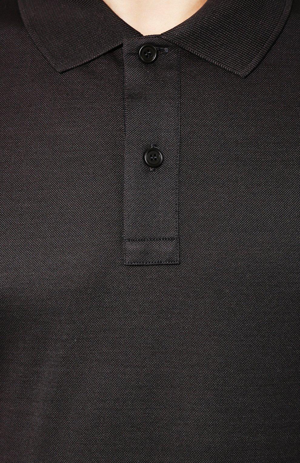 Мужское хлопковое поло BOTTEGA VENETA темно-серого цвета, арт. 599677/VK090   Фото 5