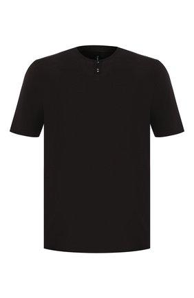 Мужская хлопковая футболка TRANSIT черного цвета, арт. CFUTRK7421   Фото 1