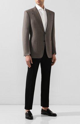 Мужские кожаные пенни-лоферы BALLY черного цвета, арт. WEBB/530   Фото 2