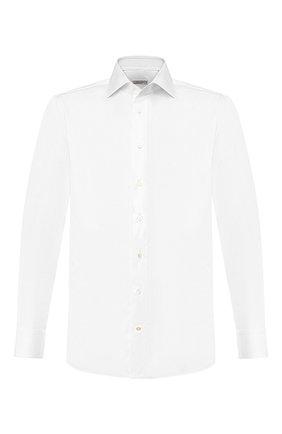 Мужская хлопковая сорочка ZILLI белого цвета, арт. MFT-MERCU-10715/RZ01 | Фото 1